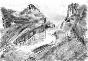 Far-Cry-Rook-Islands-River.Map-1-Bleistift-auf-Papier-105-x-148-cm-2013