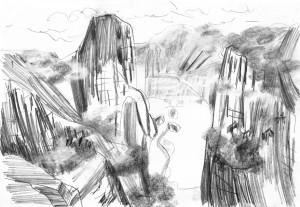 Far-Cry-Rook-Islands-River.Map-2-Bleistift-auf-Papier-105-x-148-cm-2013