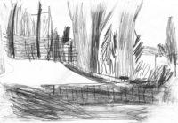Gärten-Bepflanzte-Einfahrt-Bleistift-auf-Papier-105-x-148-cm-2013