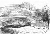 Gärten-Terrassenanlage-mit-Freisitz-Bleistift-auf-Papier-105-x-148-cm-2013