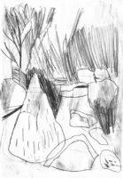Gondwanaland-Totenkopfaffeninsel-Bleistift-auf-Papier-148-x-105-cm-2012