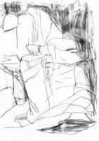 Gondwanaland-Wasserfall-Bleistift-auf-Papier-148-x-105-cm-2012