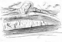 Planet-Horse-Views-in-Europe-The-Canyon-4-Bleistift-auf-Papier-105-x-148-cm-2012