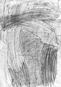 oT (Bogen), Bleistift auf Papier, 27,5 x 19,5 cm, 2014