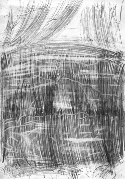oT (Spiegel), Bleistift auf Papier, 27,5 x 19,5 cm, 2014