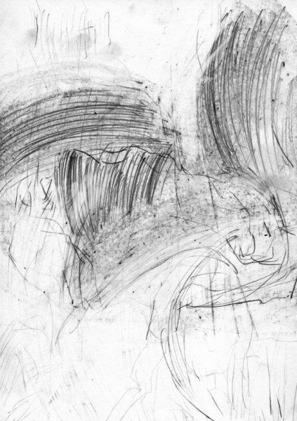 oT (Sträucher), Bleistift auf Papier, 27,5 x 19,5 cm, 2014