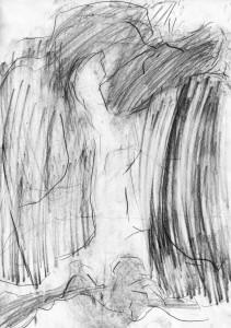 oT (Tor), Bleistift auf Papier, 27,5 x 19,5 cm, 2014