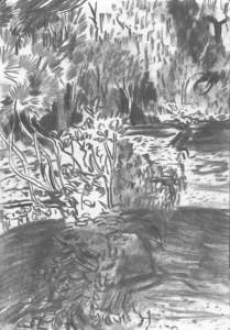 The-Japanese-Garden-Island_II_Kohle-auf-Papier_140x199_2016