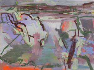 o.T.-(Vue-des-Alpes,-Le-Lac-IV),-30-×-40-cm,-Öl-auf-Leinwand,-2015_2